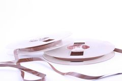 Magnetbänder für Tonaufzeichnunge Stockfotos