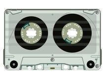 Magnetband für Tonaufzeichnungenkassette getrennt auf Weiß Stockfotos