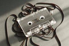 Magnetband für Tonaufzeichnungenkassette mit heraus subtrahiert nehmen auf Band auf Stockfotos