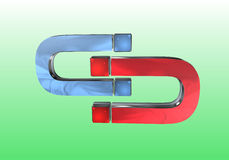 Magnete al magnete Immagine Stock