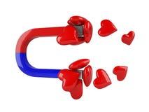Magnete del cuore Fotografia Stock