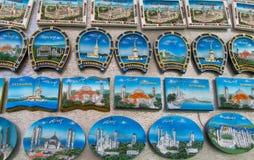 Magnete del ricordo di Costantinopoli con l'immagine della moschea Immagini Stock