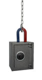 Magnete e cassaforte Immagine Stock