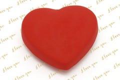Magnete a forma di del frigorifero del cuore con lo spazio della copia Fotografia Stock
