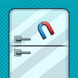 Magnete sull'illustrazione di vettore di Pop art del frigorifero Fotografia Stock Libera da Diritti