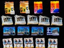 Magneti ceramici Atene Grecia di posizioni greche del Partenone immagine stock