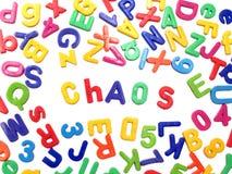 Magneti del frigorifero della lettera - caos royalty illustrazione gratis