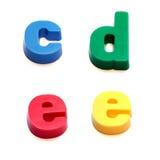 Magneti del frigorifero di ABC Fotografie Stock