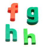 Magneti del frigorifero di ABC Immagini Stock