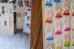 Magneti del frigorifero di angelo Fotografia Stock