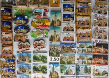 Magneti del frigorifero del ricordo a Kosice, Slovacchia Immagini Stock