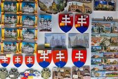 Magneti del frigorifero del ricordo a Kosice, Slovacchia Fotografia Stock
