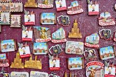 Magneti del ricordo con le viste di Varsavia, Polonia Immagine Stock Libera da Diritti