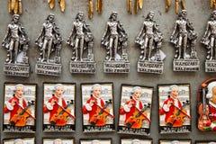 Magneti del ricordo con Mozart a Salisburgo, Austia Fotografia Stock Libera da Diritti