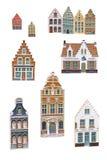 Magneti del ricordo di Bruges fotografia stock libera da diritti