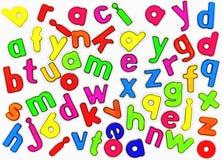 Magnetic alphabet letters Stock Photos