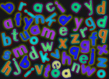 Magnetic alphabet letters Royalty Free Stock Photography