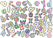 Magnetic alphabet letters Royalty Free Stock Images