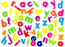 Magnetic alphabet letters Stock Images