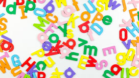 Magnetic alphabetic jumble on whiteboard Royalty Free Stock Photos