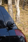 Magnetic antenna on car. Photo of magnetic antenna on car royalty free stock photos