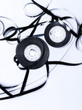 Magnetic audio tape reel. Close up of magnetic audio tape reel Stock Photo