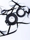Magnetic audio tape reel Stock Photo