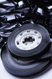 Magnetic audio tape reel. Close up of magnetic audio tape reel Stock Images