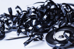 Magnetic audio tape reel. Close up of magnetic audio tape reel Stock Photography