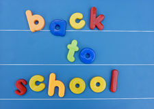 Magnetic back to school message board Royalty Free Stock Images