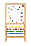 Magnetic board. With abacus isolated on white - rendering Royalty Free Stock Photo
