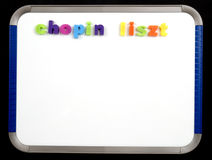 Magnetic Board - chopin liszt Stock Photos