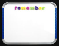 Magnetic Board - Remember. A magnetic letter board with the word Remember Royalty Free Stock Image