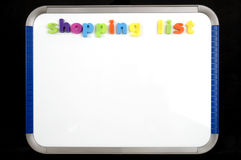 Magnetic Board with shopping list Royalty Free Stock Photo