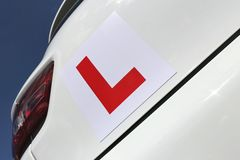 Magnetic British L-plate Royalty Free Stock Image