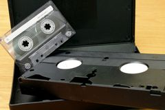 Magnetic cassette Royalty Free Stock Image