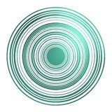 Magnetic circles in emerald. Stock Images