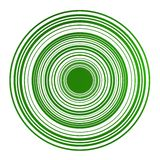 Magnetic circles in green Stock Photos
