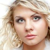 Magnetic closeup woman face Stock Photography