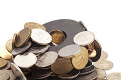 Magnetic coins Stock Image