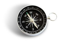 Magnetic compass. In white background with shadow Stock Photos