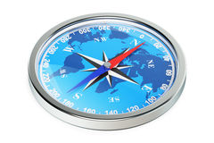 Magnetic compass closeup, 3d rendering Stock Image