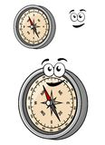 Magnetic compass with a smiley face Stock Images