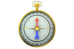Magnetic compass view front Royalty Free Stock Photos