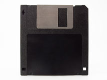 Magnetic computer floppy disc isolated on white ba Royalty Free Stock Image