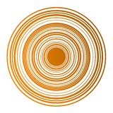 Magnetic concentric cirles in orange. Royalty Free Stock Photo