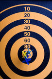 Magnetic Dart Board With Darts Royalty Free Stock Photography
