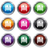 Magnetic diskette set 9 collection Royalty Free Stock Photo
