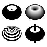 Magnetic field toroid black symbol Royalty Free Stock Photography