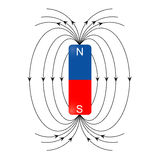 Magnetic field vector. Image of magnetic field  on white Stock Photography